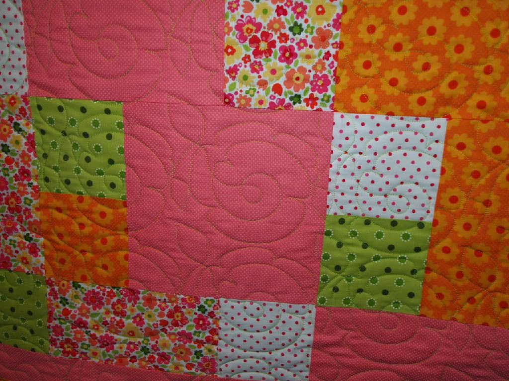 Karen Hollensbe's Bright Orange Quilt