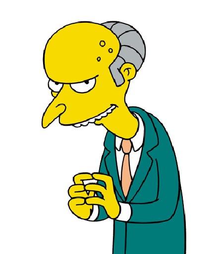 The Simpsons and Julius CaesarSimpsons Characters Mr Burns