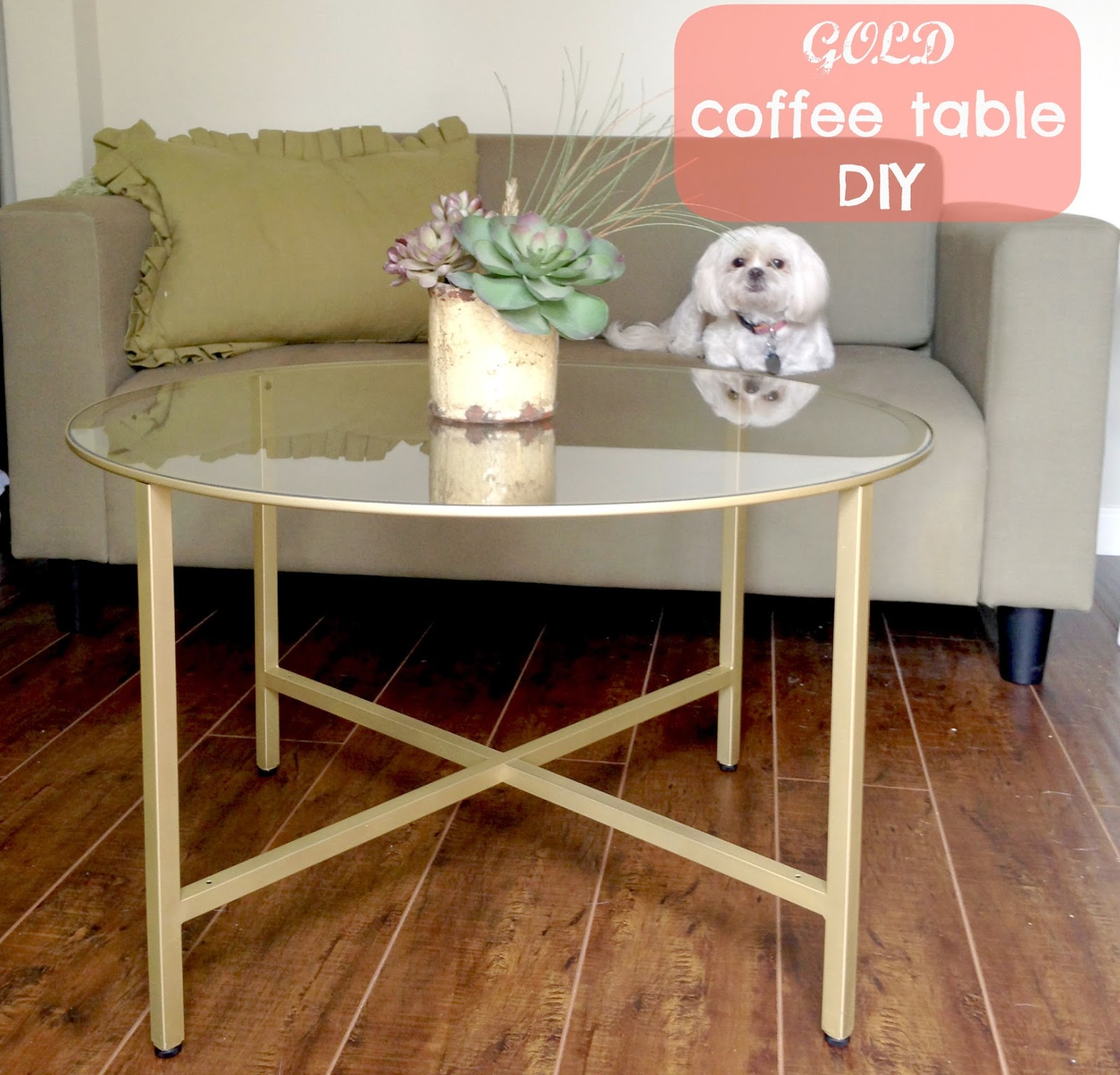 Gold Coffee Table DIY // The Twisted Horn