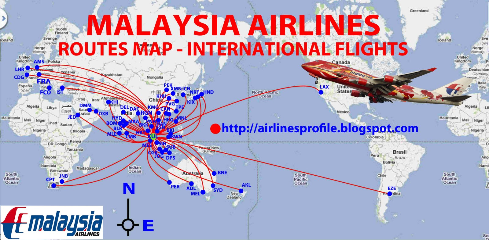 you can share information or impression during flight with malaysia airlines to us at this forum malaysia airlines routes map