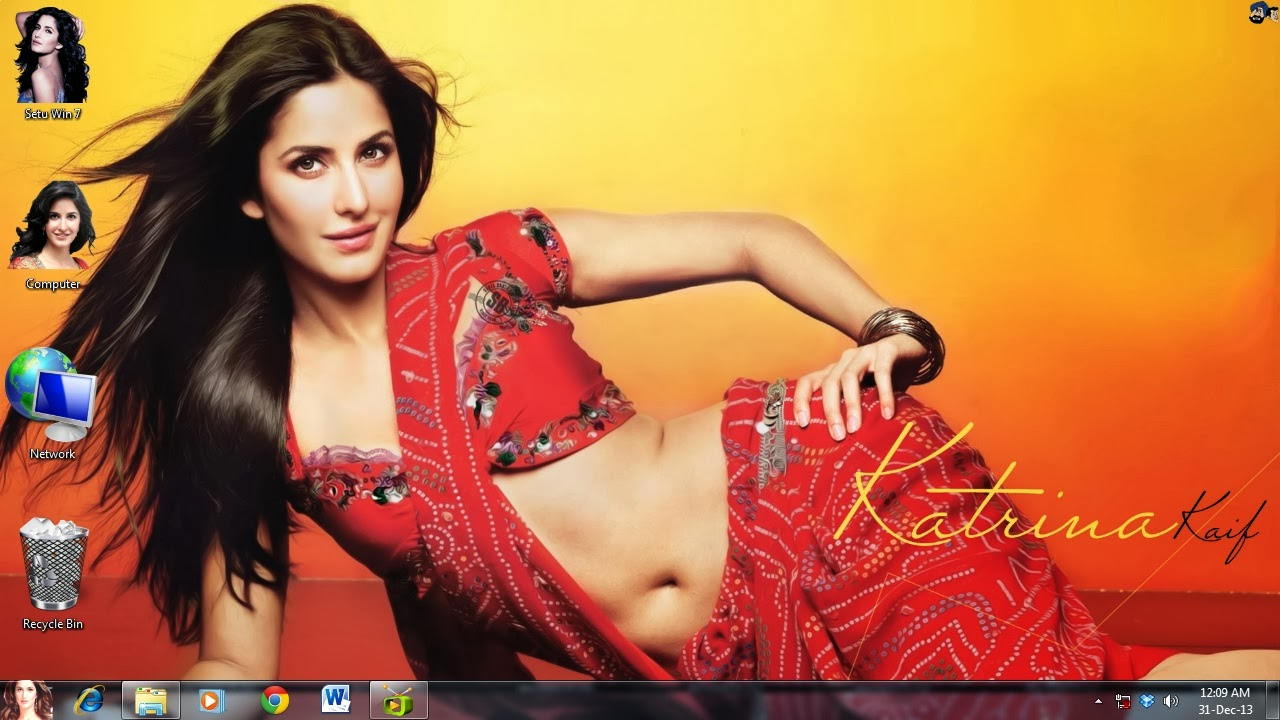 How to make Katrina Kaif theme for my windows
