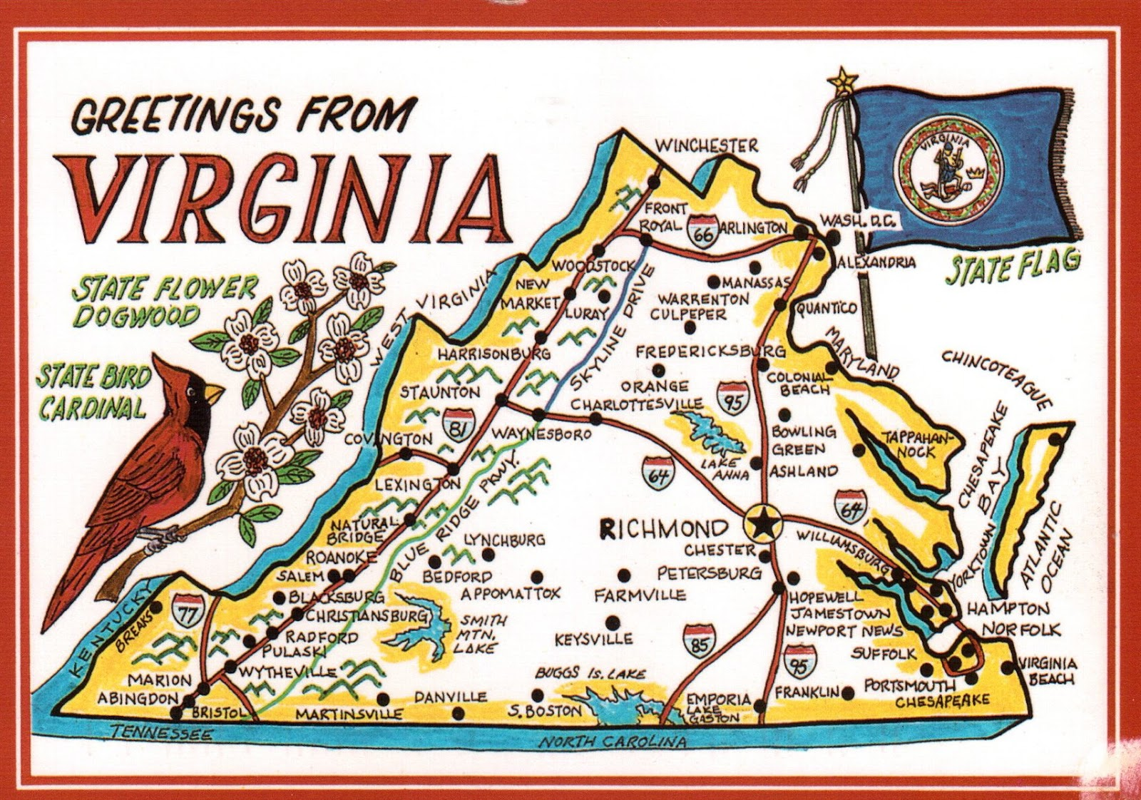 introducing 15 us state map postcards from 13 different states still quite many to go