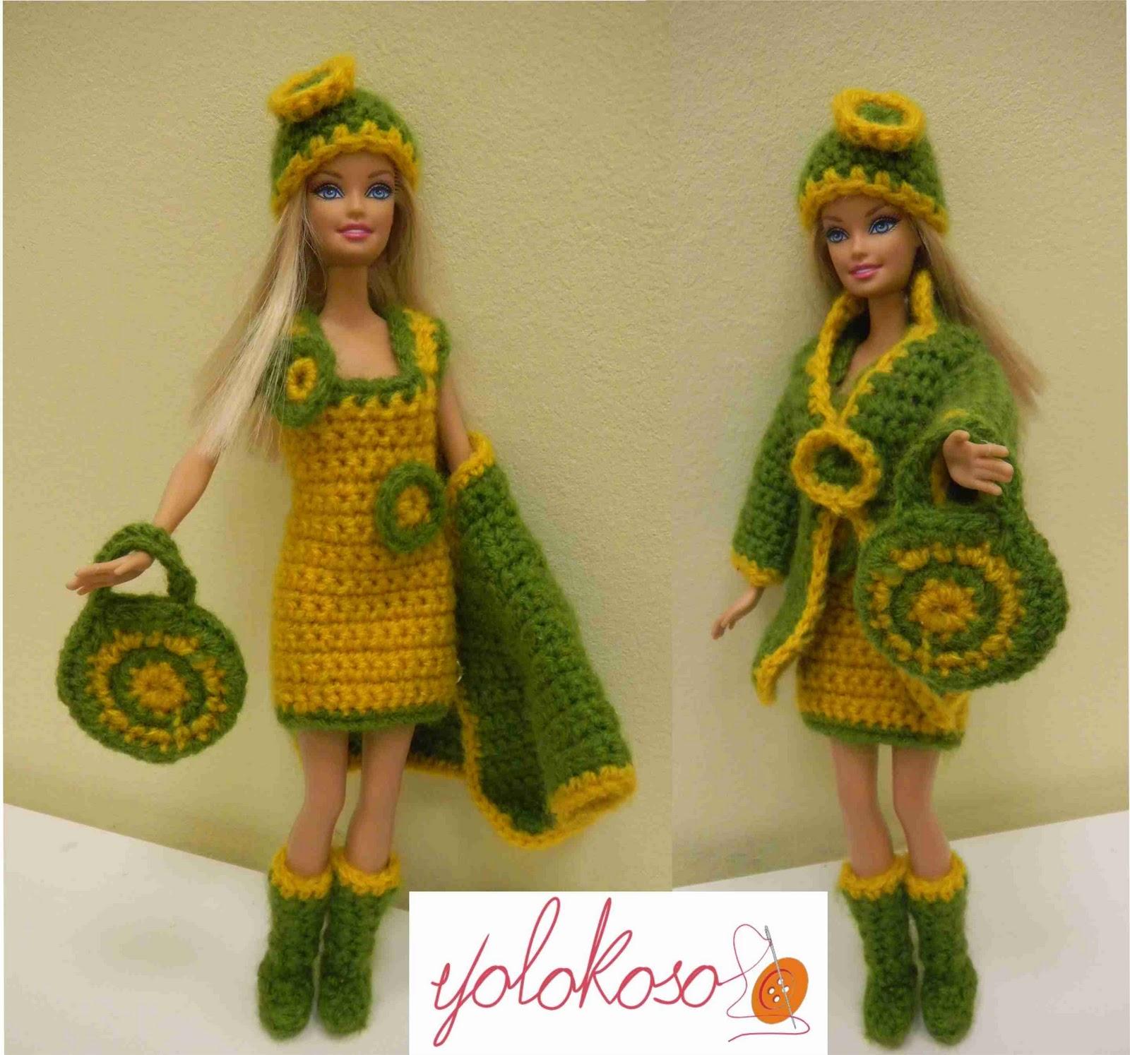 Famoso Barbie Patrones De Ropa De Muñecas De Crochet Libre Cresta ...