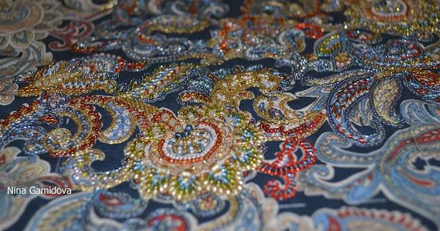вышивка бисером по рисунку на ткани