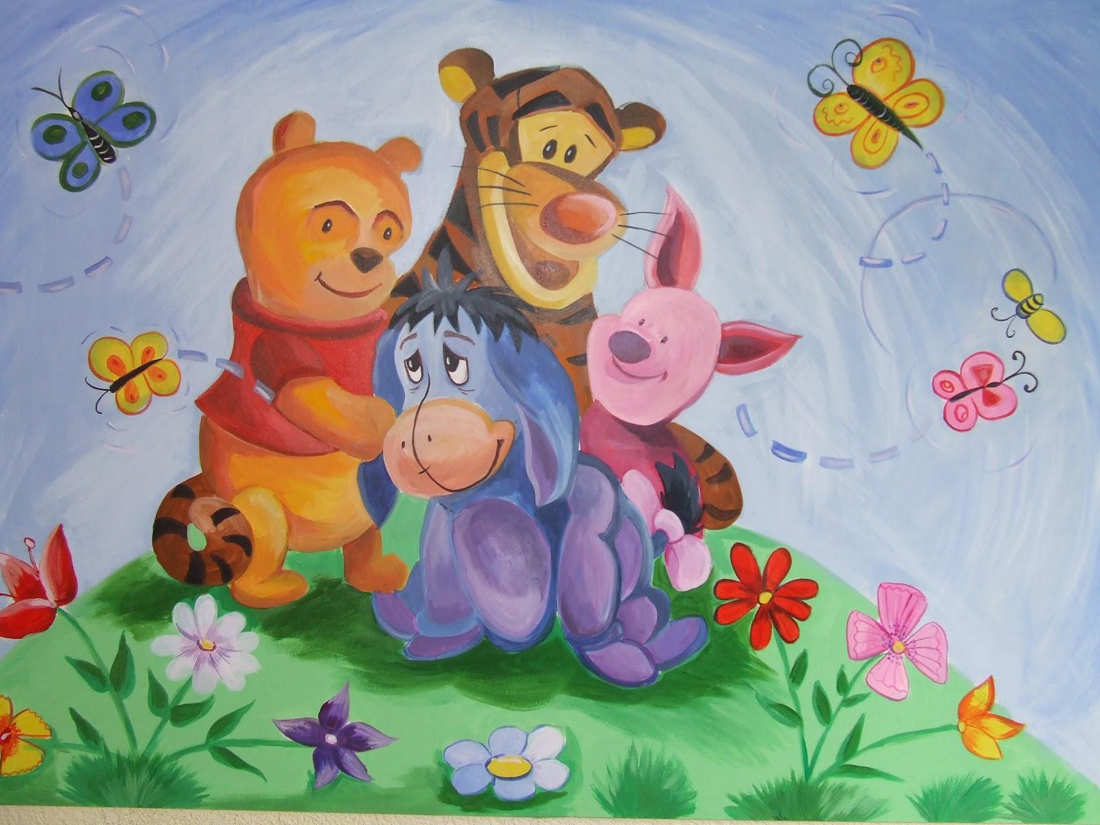 """Schmuck-Ketten: Wandbild """"Winnie Pooh Und Co"""""""