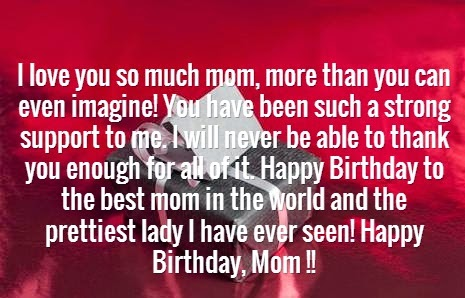Happy Birthday Wishes Messages Greetings QuotesPictures – Happy Birthday Greetings for Mom