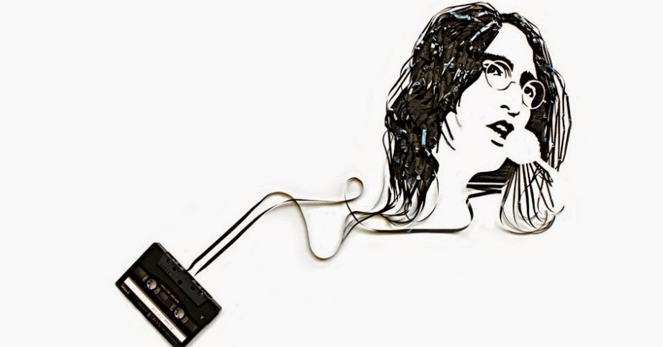 Michael Jackson recriado em velhas fitas cassete