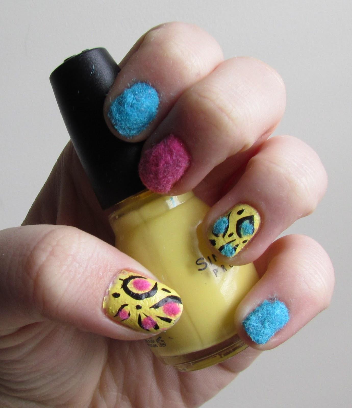 Karen Loves Nail Polish Notd Fuzzy Funky Flocking