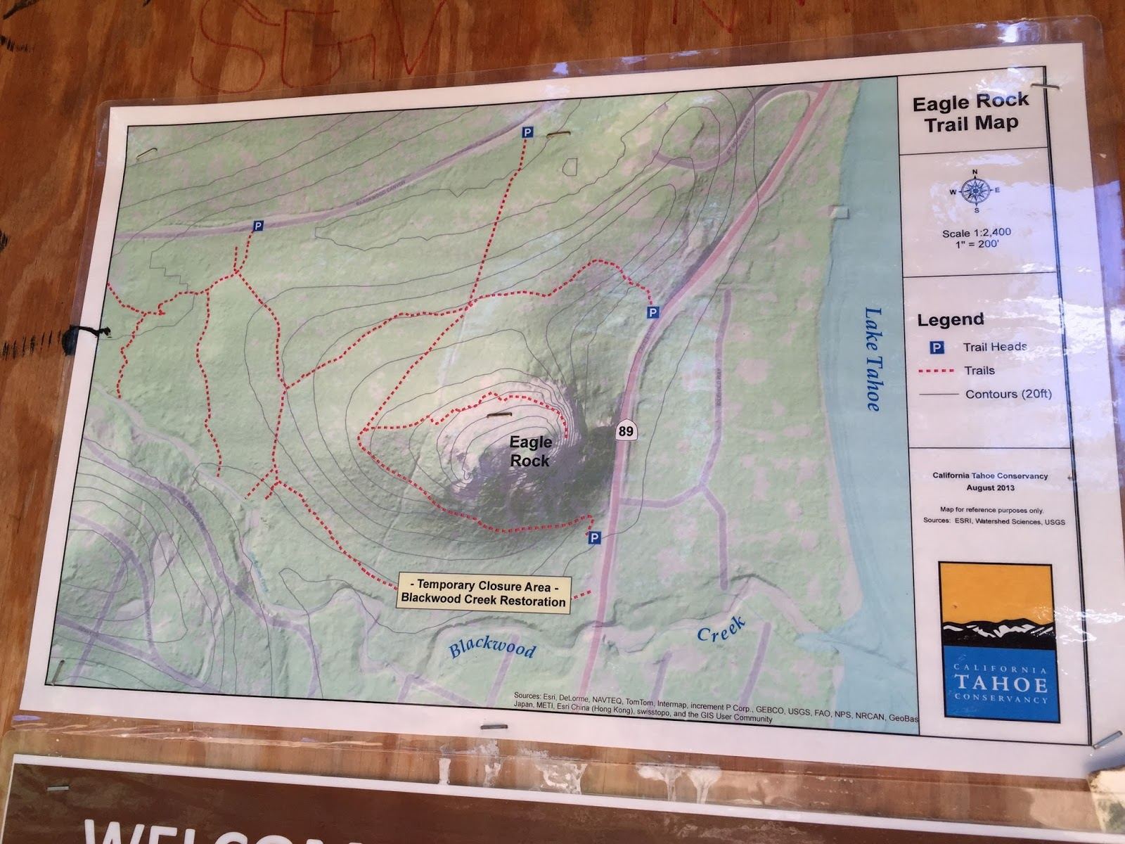 a map of the eagle rock trails with a toddler stick to the perimeter