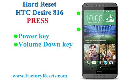 Hard Reset HTC Desire 816