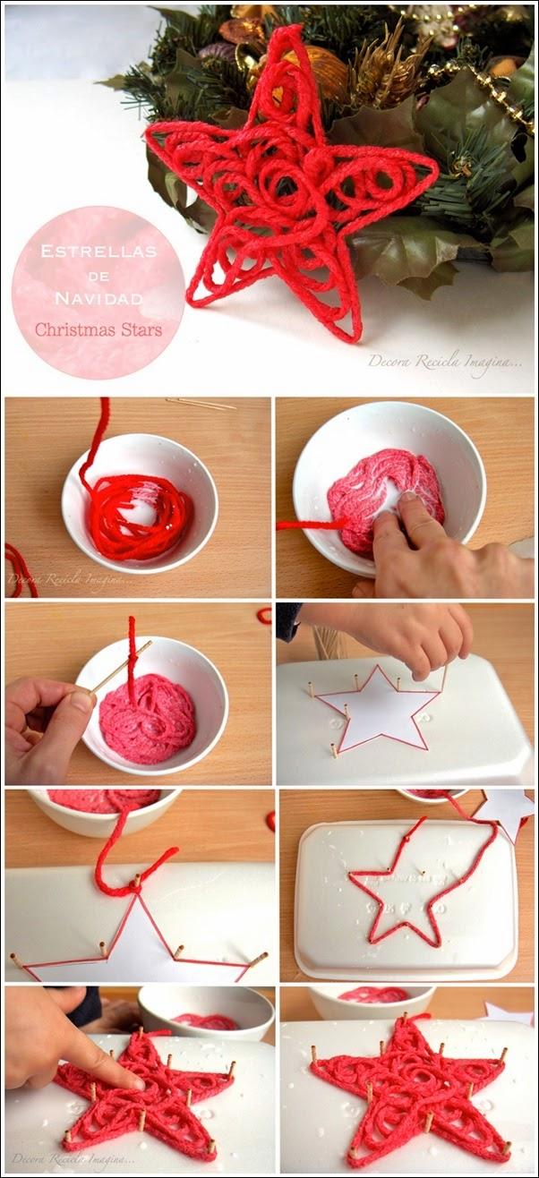 Как сделать новогоднюю звезду из