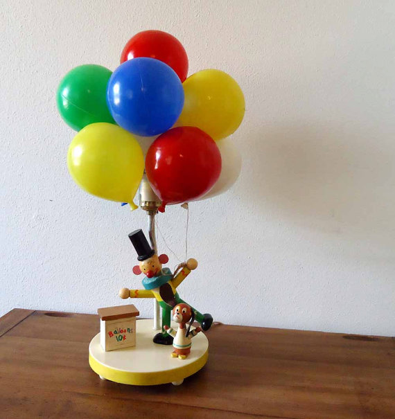 fourth grade nothing 39 70s clown with balloons lamp and nightlight. Black Bedroom Furniture Sets. Home Design Ideas