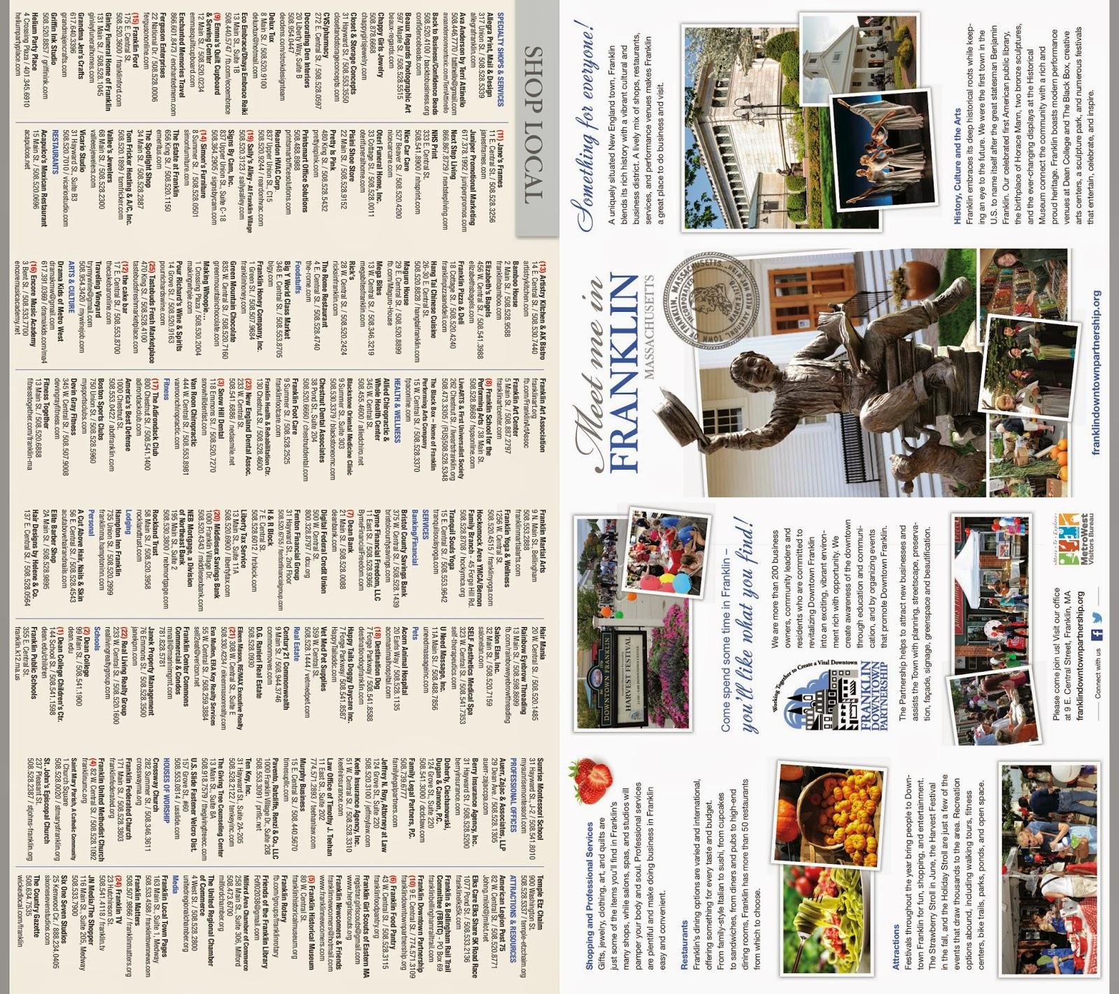 Franklin Downtown Partnership brochure - p1