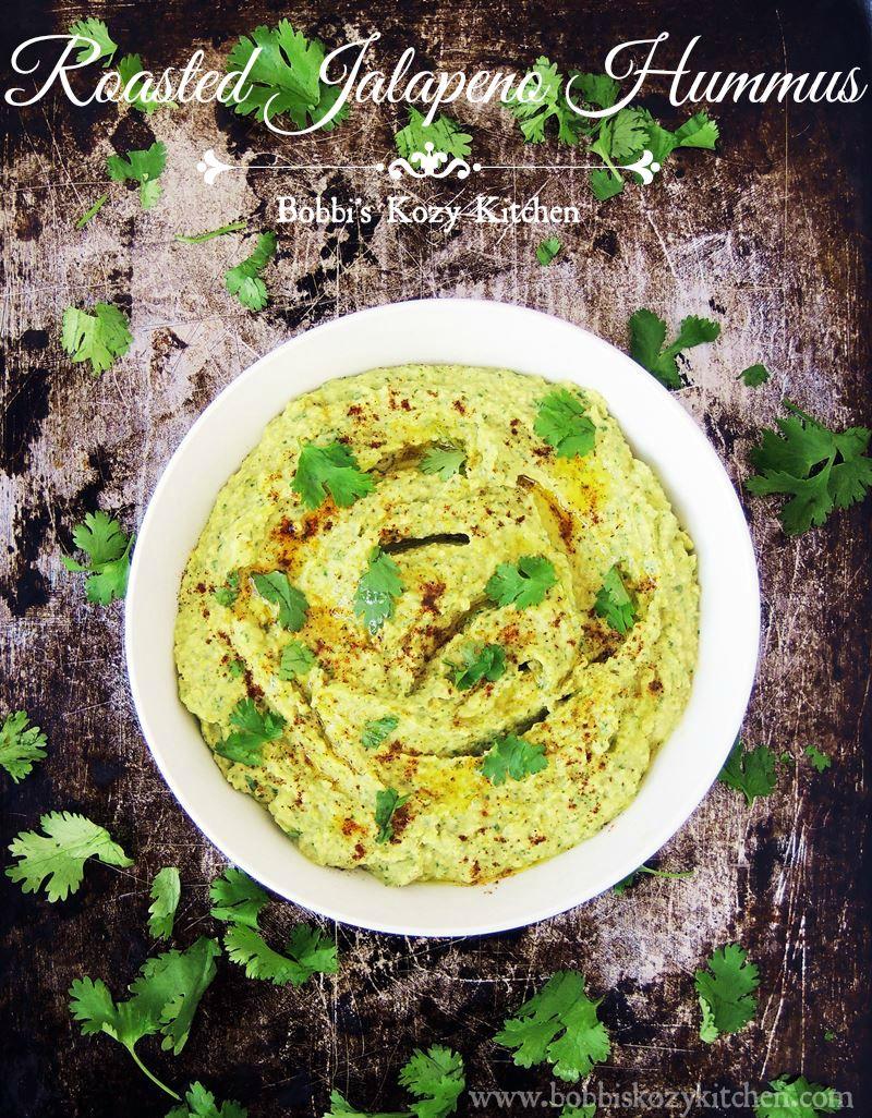 Roasted Jalapeño Hummus - Creamy with that jalapeño kick, this ...