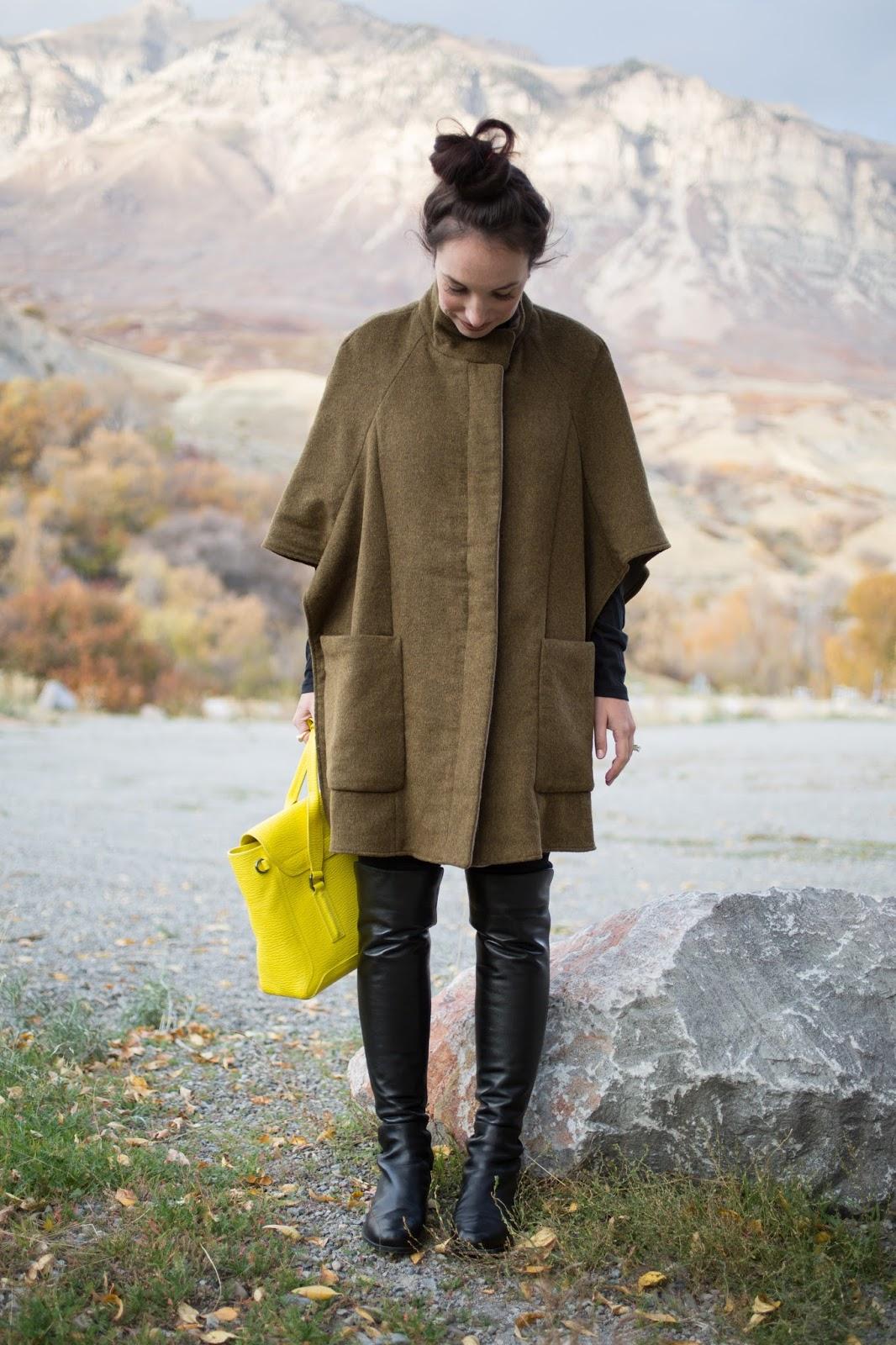 Zara Oversized Wool Poncho Cape