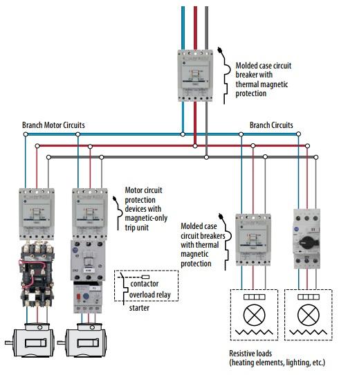 Motor Protection Circuit Breakers Schematic Diagram