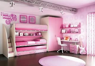 Dormitorios rosa para dos niñas