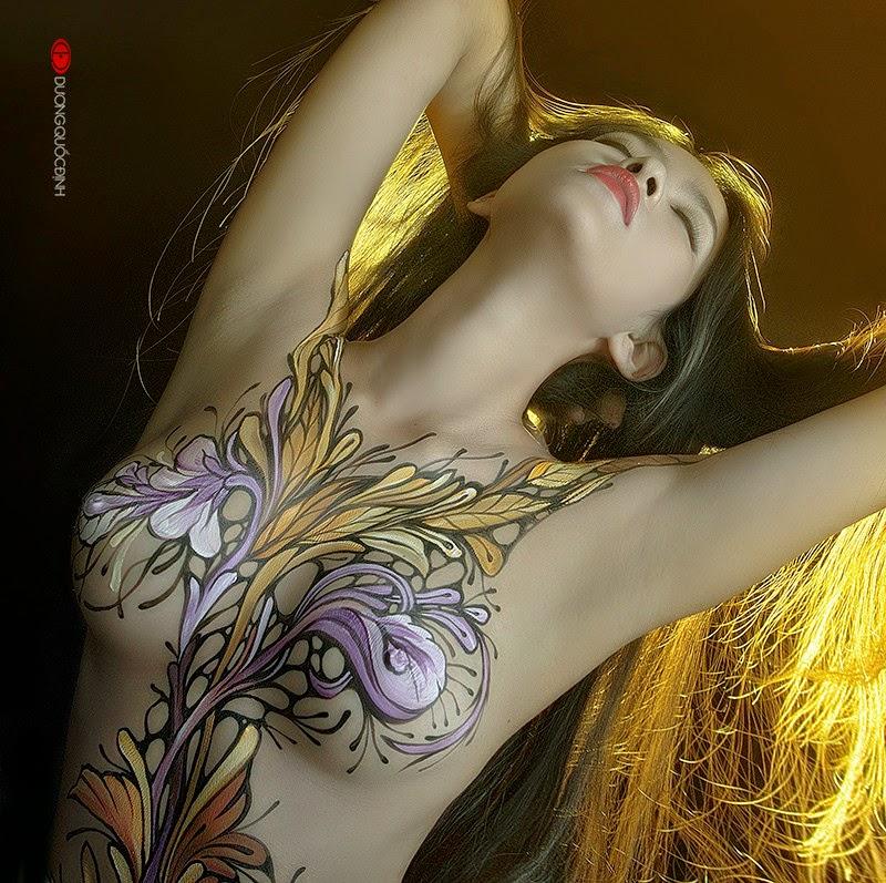 Ảnh gái đẹp sexy với body painting Phần 2 27