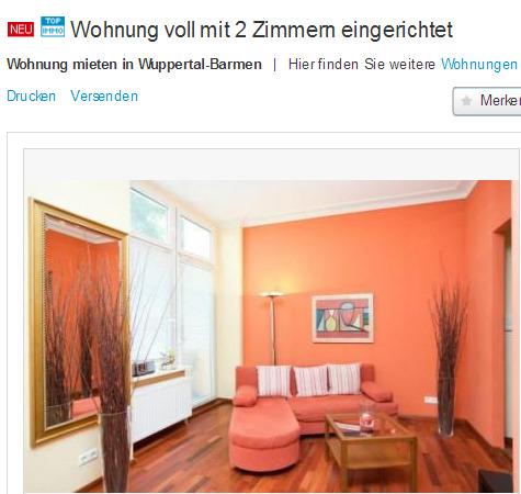 Sch ne wohnung gegen wohnungsbetrug against rental for 2 zimmer wohnung wuppertal