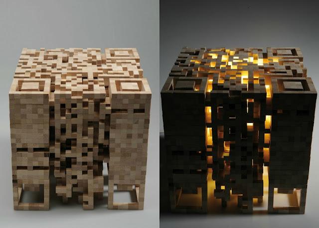 creer flashcode ou qr code lampe qr code 3d. Black Bedroom Furniture Sets. Home Design Ideas