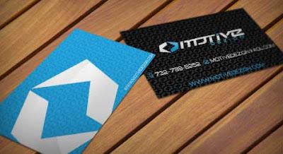 tarjetas de presentacion de color azul