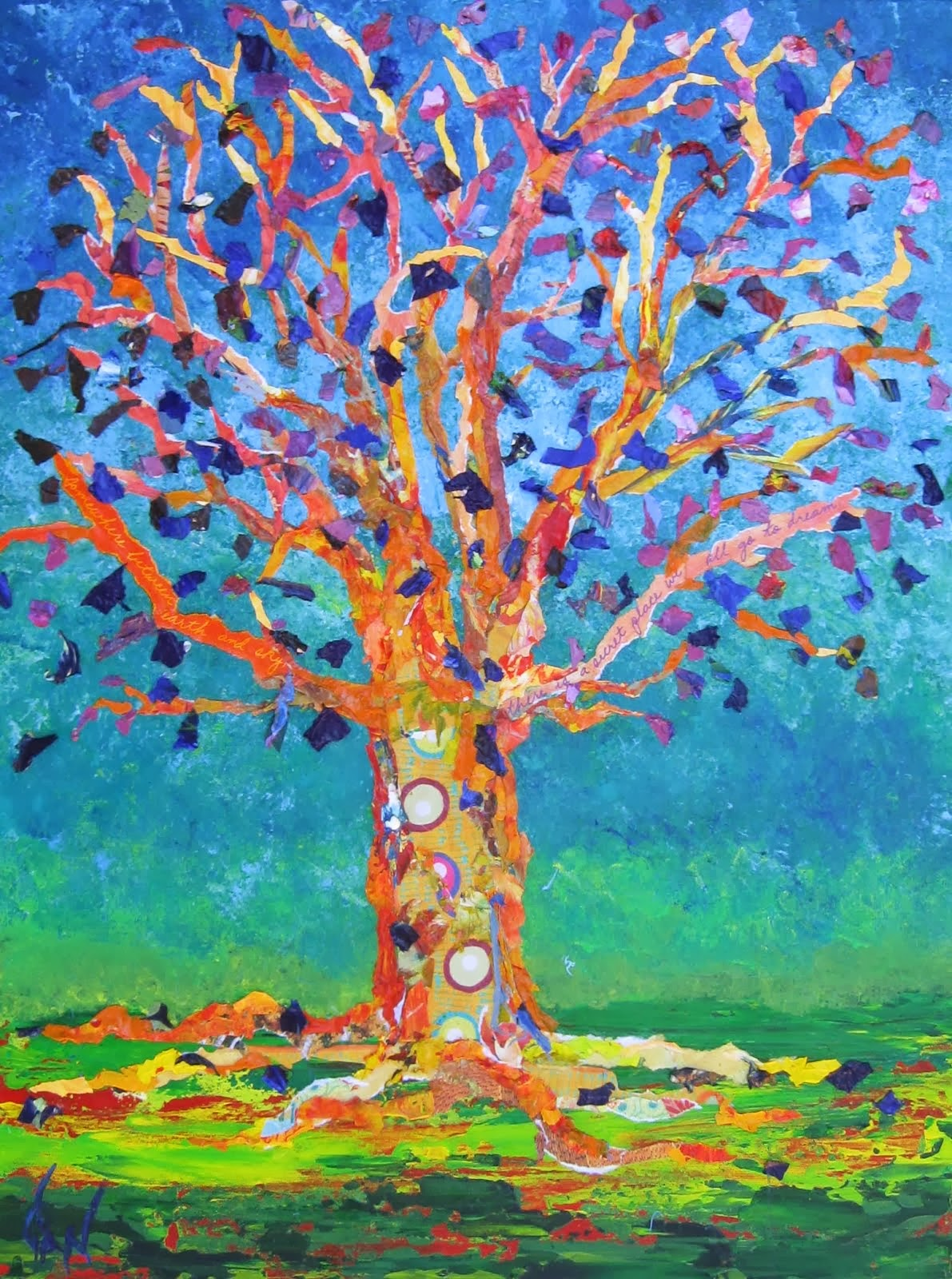 Orange Tree With Purple Leaves