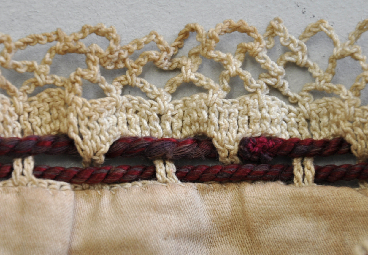 Arachne\'s Blog: Crocheted Reticule with Silk Ribbons