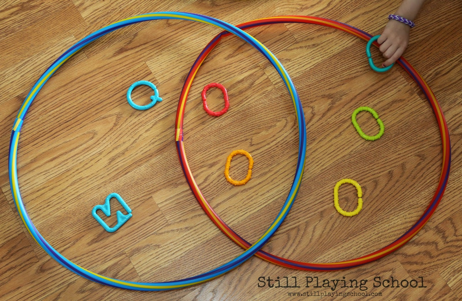 Hula hoop venn diagram sorting still playing school this tool allows us to sort sets by two attributes which is an important early math skill we sorted our extensive collection of baby links since we have a ccuart Images