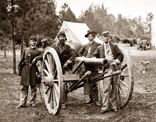 Cañones de Artillería en Fair Oaks, Virginia, fotografía tomada en 1862