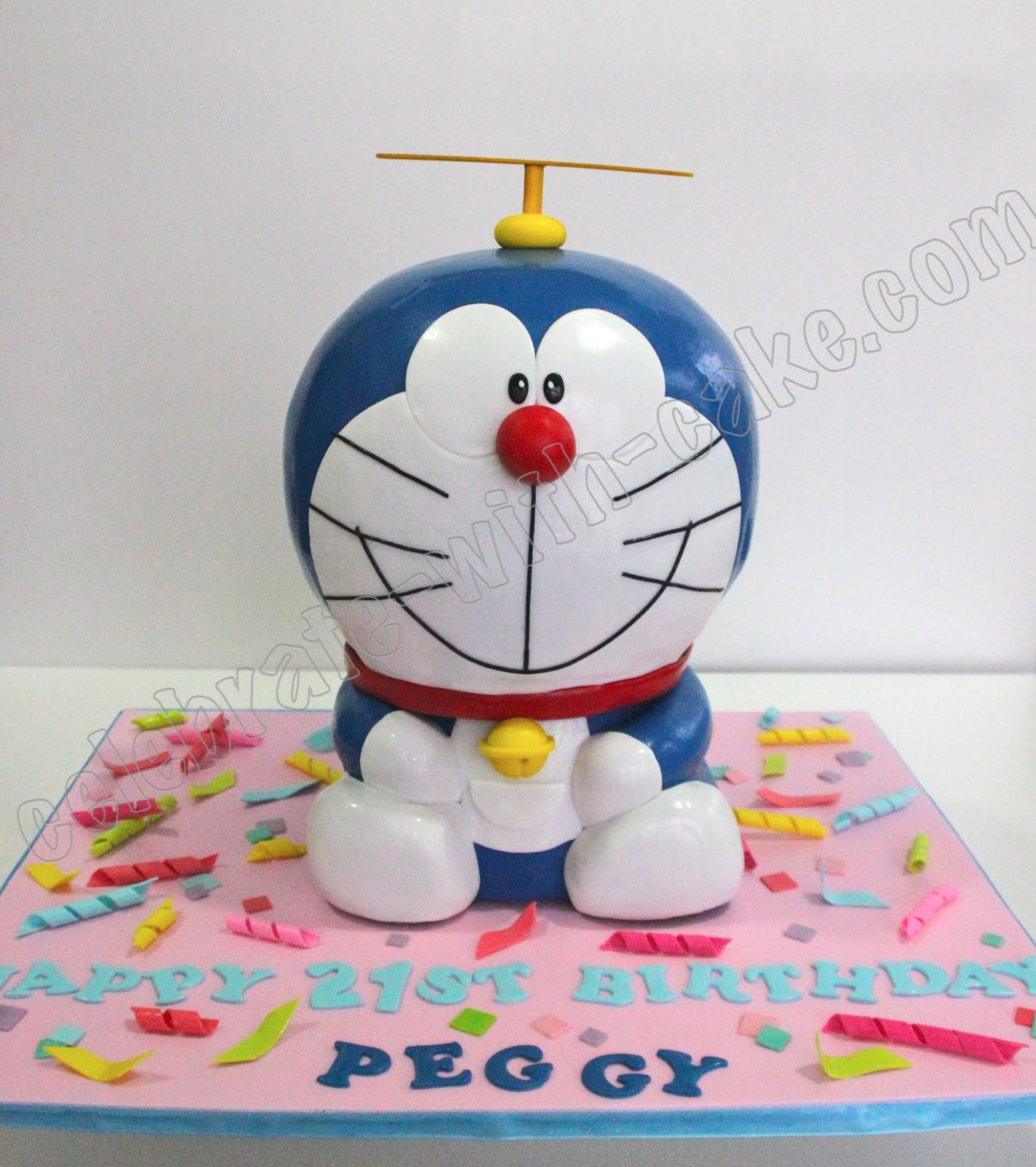 Doraemon Birthday Cake Images : Celebrate with Cake!: Sculpted Doraemon Cake