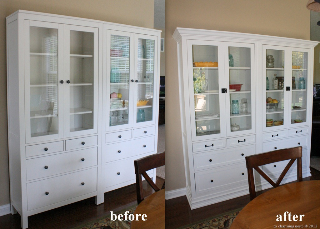 turning ikea hemnes into built ins get home decorating
