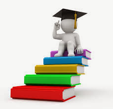 Image of graduate on books