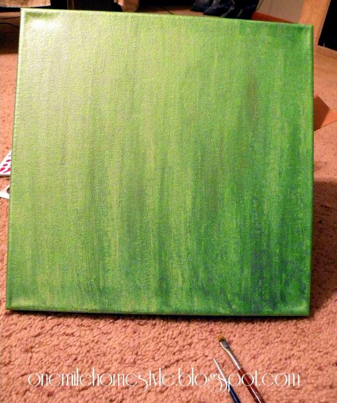 Silvery green canvas - bathroom art