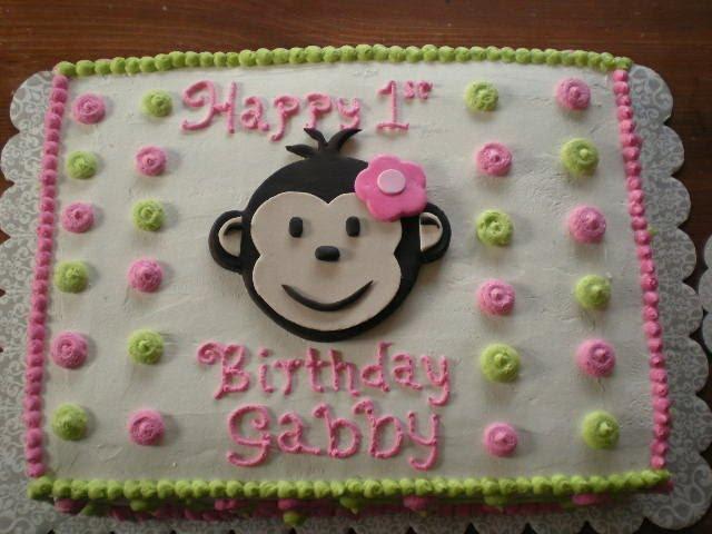 Monkey Sheet Cakes