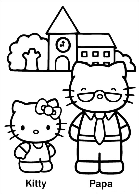 fun coloring pages hello kitty coloring pages. Black Bedroom Furniture Sets. Home Design Ideas