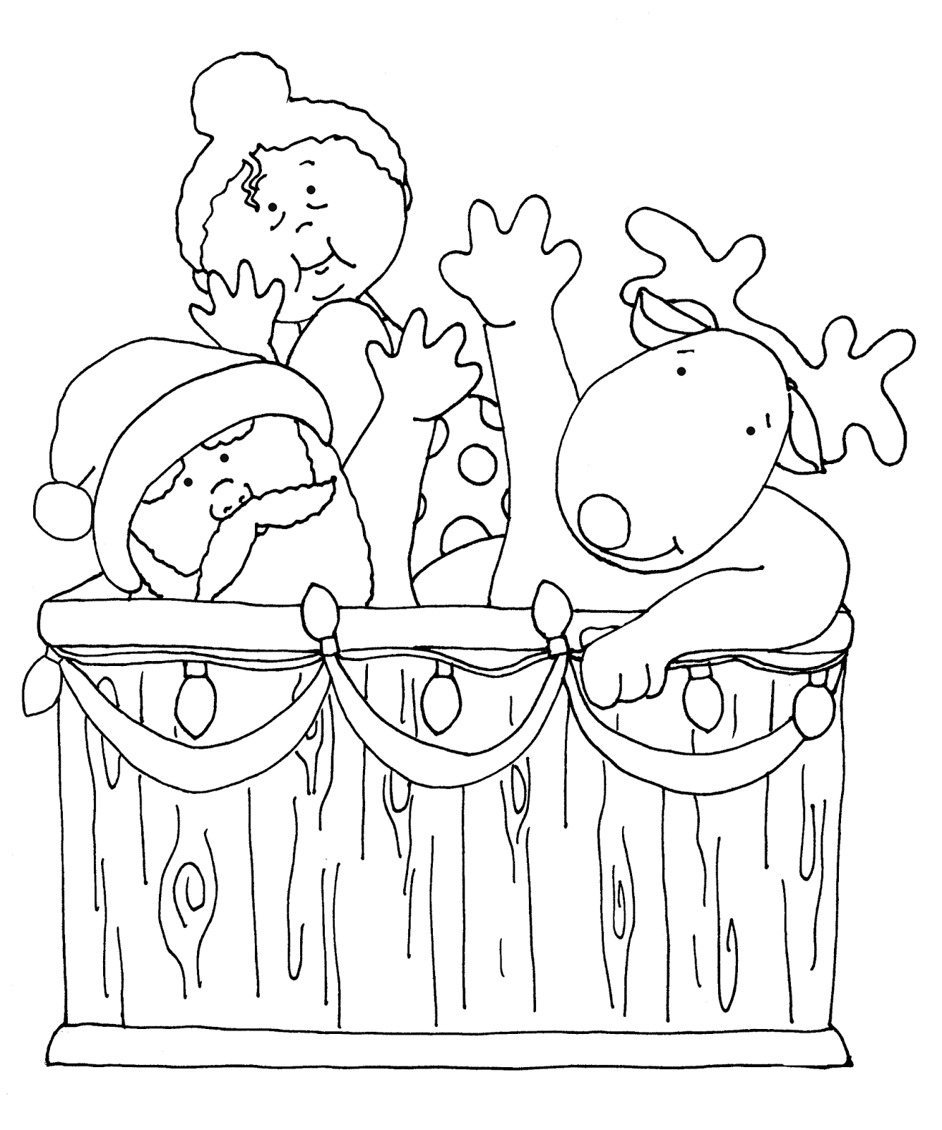 Tub You Free Dearie Dolls Digi Stamps Santas Hot Tubthe Colored