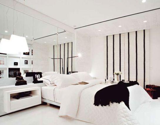 HABITACION PARA PAREJA DORMITORIO BLANCO Y NEGRO Quarto do Casal via www.dormitorios.blogspot.com