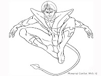 Mewarnai Gambar Night Crawler X-Men
