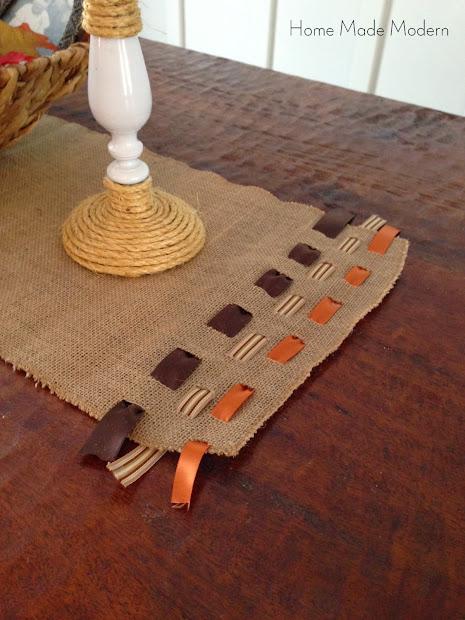 Home made modern centerpiece ideas for thanksgiving for Easy diy table runner
