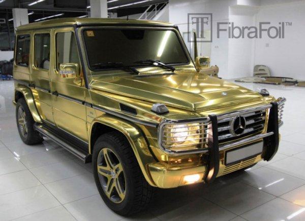 Dcgoldca gold mercedes benz g55 amg by fibrafoil for Mercedes benz 18k gold ring