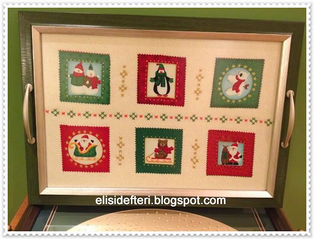 handmade embroidered tray