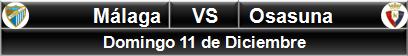 Málaga vs Osasuna