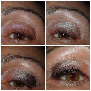 Maquillaje de Ojos Gris y Cobre