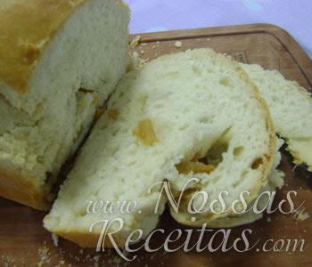 receita de pão preparado com torresmos crocantes foto passo a passo