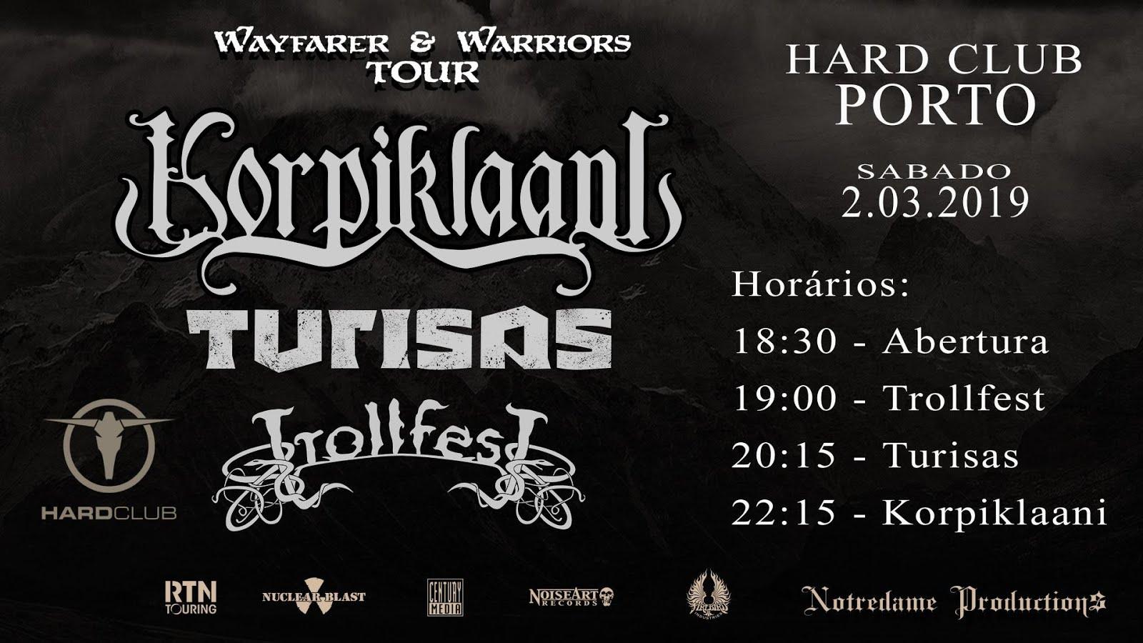 Korpiklaani + Turisas + Trollfest @ Hard Club