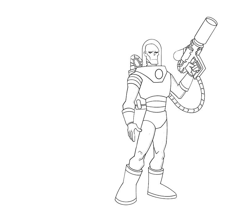 Printable Mr Freeze Coolboy Coloring Pages