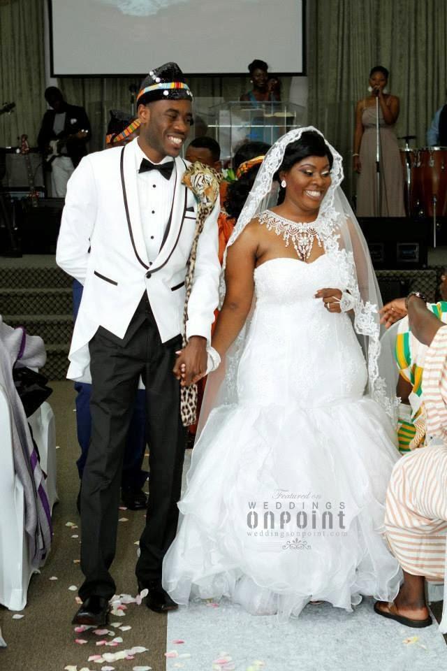 Ghanaian bride and groom