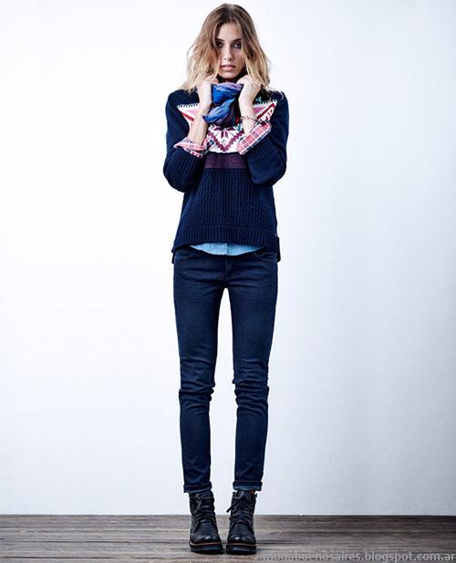Moda jeans invierno 2015 Wrangler.