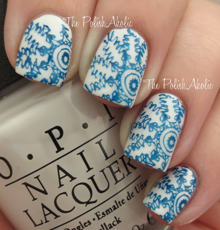 The Polishaholic Notd Snowflake Nail Art