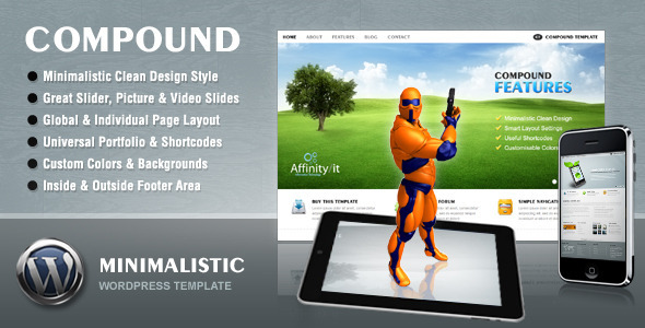 Compound - Minimalist Business & Portfolio Wordpress Theme Free Download by ThemeForest.